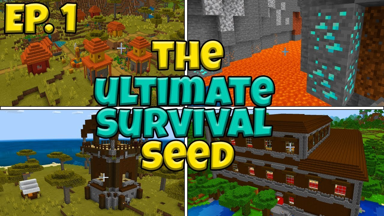 Glitched Diamond Seed The Ultimate Survival Seed In Minecraft Bedrock Edition Ep 1 Youtube