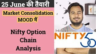Market in  Consolidation  Mood !!!Nifty Option Chain Analysis !!!