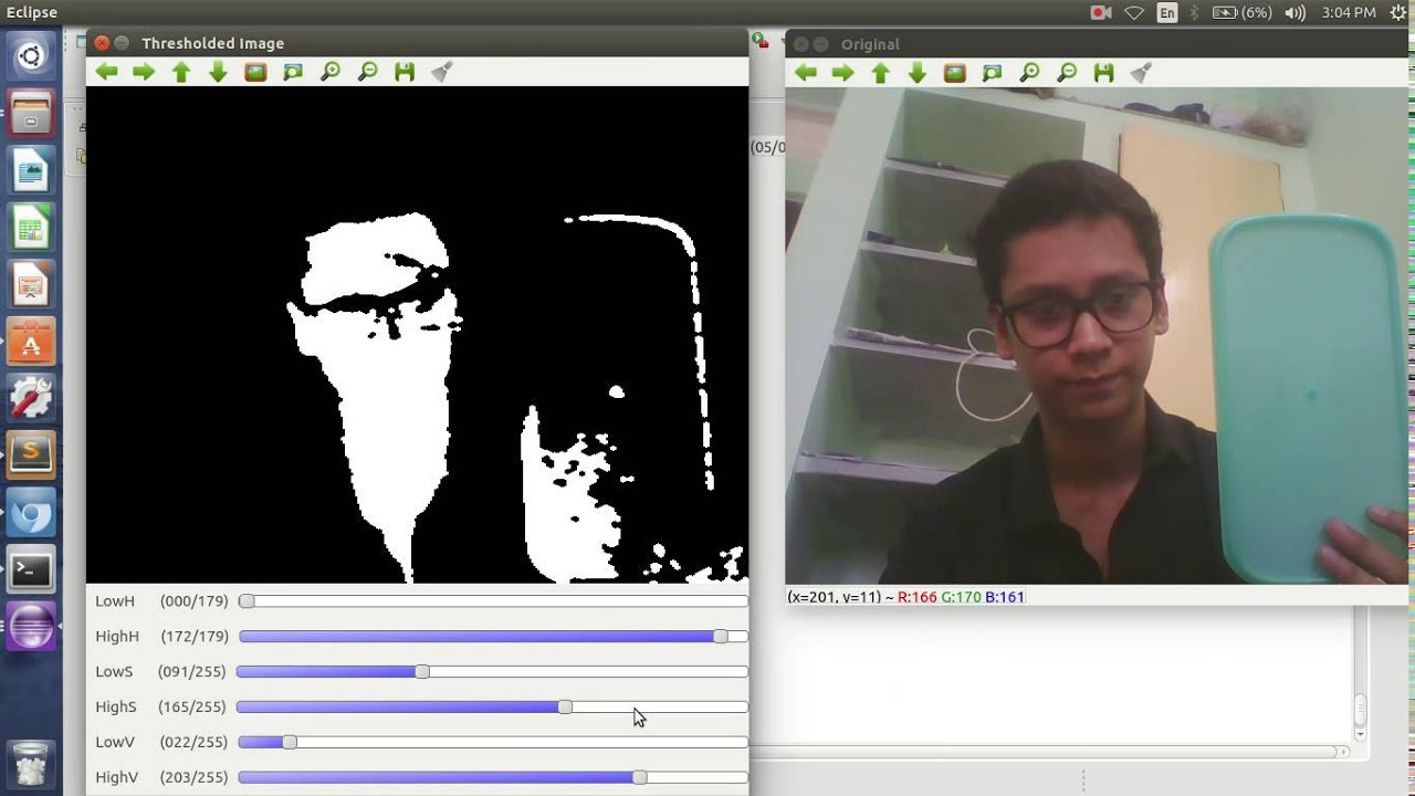 Color Detection and Contour extraction(Opencv)