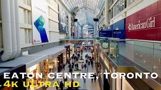 Toronto's Eaton Centre (walking tour in 4K)