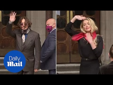 Day Two: Johnny Depp and Amber Heard arrive at the High Court