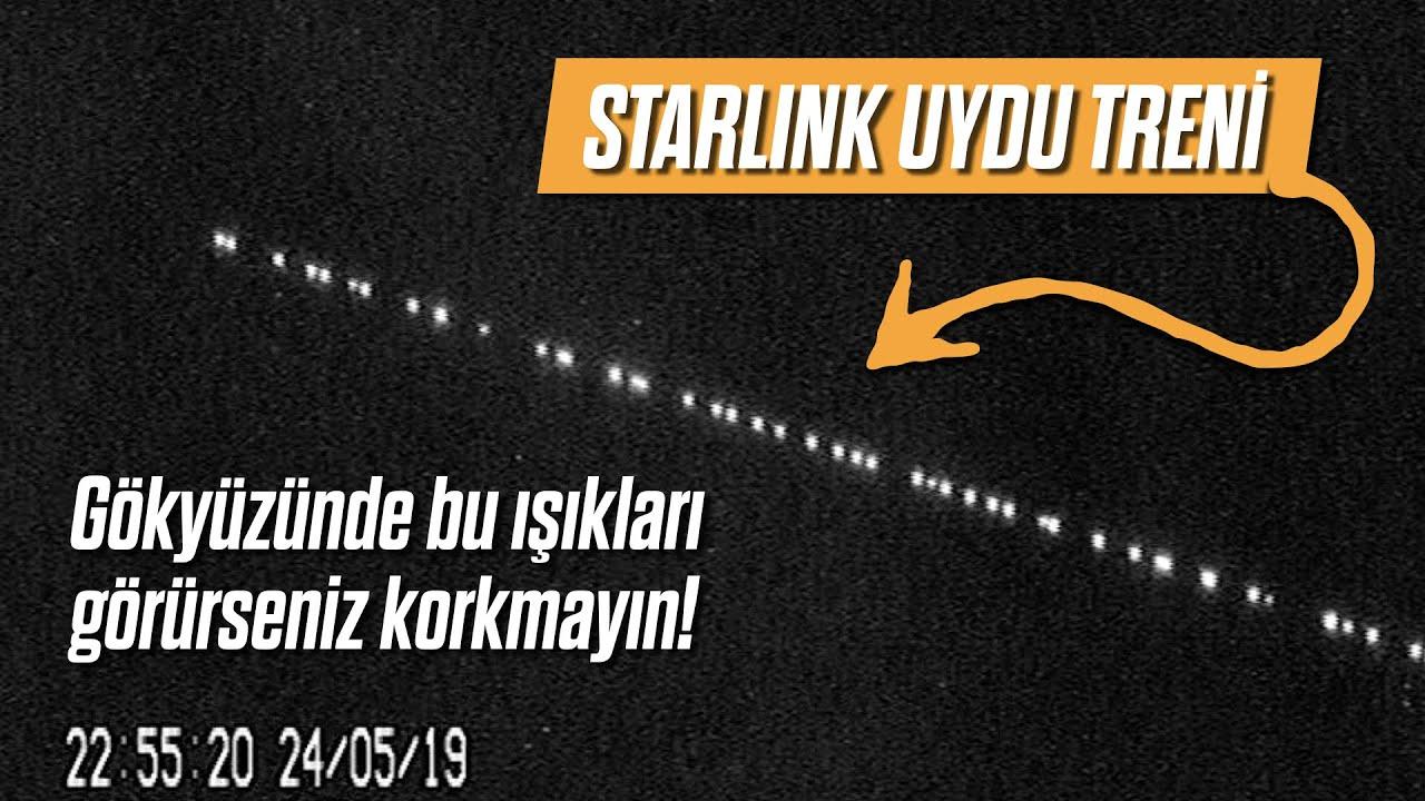 Gökyüzünde bu ışıkları görürseniz korkmayın! STARLINK Uydu Treni - YouTube