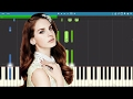 Lana Del Rey ft. The Weeknd - Lust For Life - Piano Tutorial