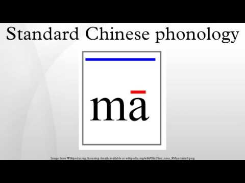 Standard Chinese phonology
