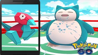 Super Rare PORYGON Caught w/ World Strongest Gym Taking Over - Pokemon Go