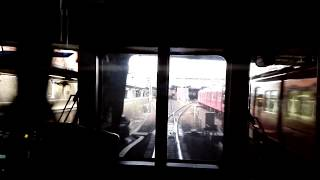 「金山駅同時入線」名鉄3520F+3103F新塗装普通内海行き同時入線、2330系&1700系とすれ違い