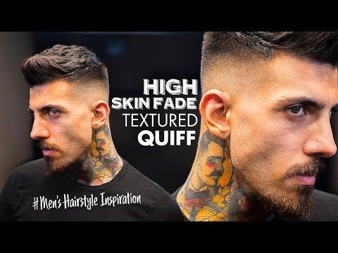 Textured short Quiff & High Skin Fade