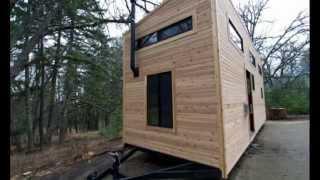 Маленький Необычный Дом. Интерьер передвижного дома вагона с прицепом.
