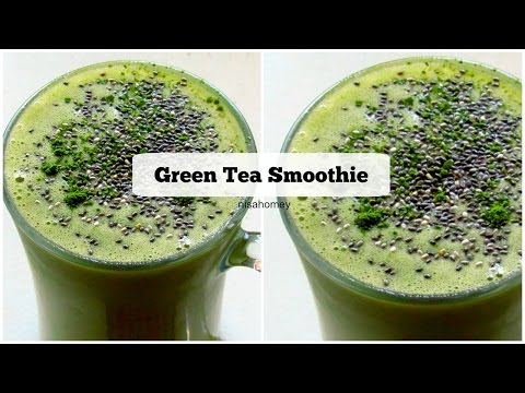 Green Tea Smoothie Recipe - How To Make Matcha Green Tea Smoothie - Breakfast Smoothies   Nisa Homey