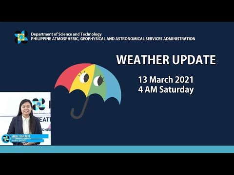 Public Weather Forecast Issued At 4:00 AM March 13, 2021