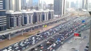 View Of Traffic Along Sheikh Zayed Road In Dubai at 6pm  (HTC Sensation)
