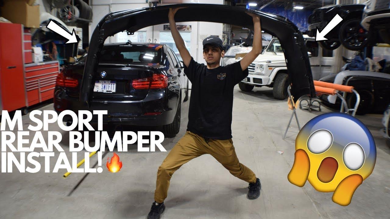 M Sport Rear Bumper Install Bmw F30
