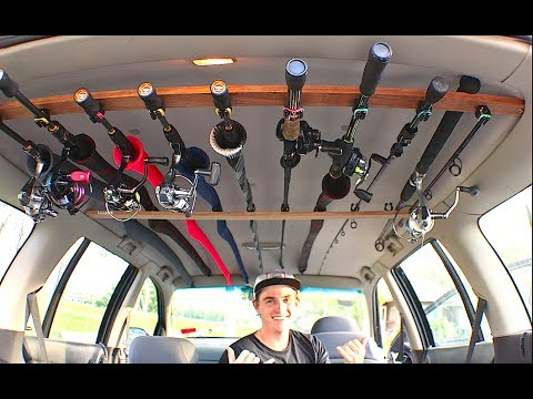 how to build a cheap diy fishing rod holder for your car