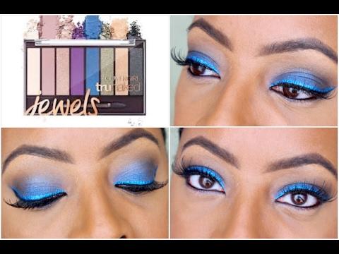 METALLIC Blue Smokey Eyes | CoverGirl TruNaked JEWELS Palette | FABULOUS on a Budget!!