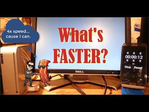 Mac Mini Speed Test! Puppy Linux VS Mac OS