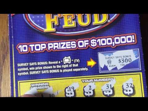 New $5 Family Feud. Pennsylvania Lottery Scratchers.