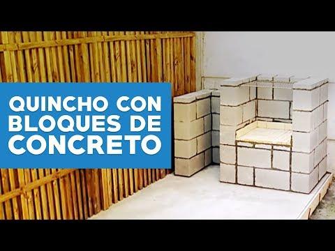 C mo hacer un quincho con bloques de concreto youtube for Como hacer una piscina con bloques