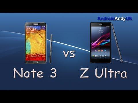Samsung Galaxy Note 3 vs Sony Xperia Z Ultra (GPS, Benchmark, Browser, Speaker)