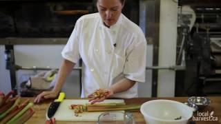 Rhubarb Pie At Thornbury Bakery Cafe - Part 2 - Filling
