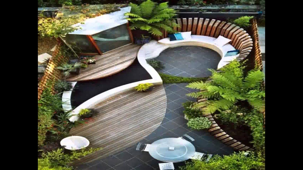 Small Home garden decking ideas YouTube