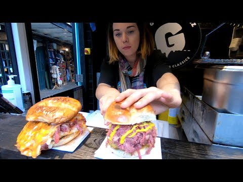Huge Filled Bagels. Amazing Street Food Tasted in Camden Town, London