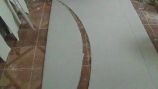 Как вырезать гипсокартон для арки