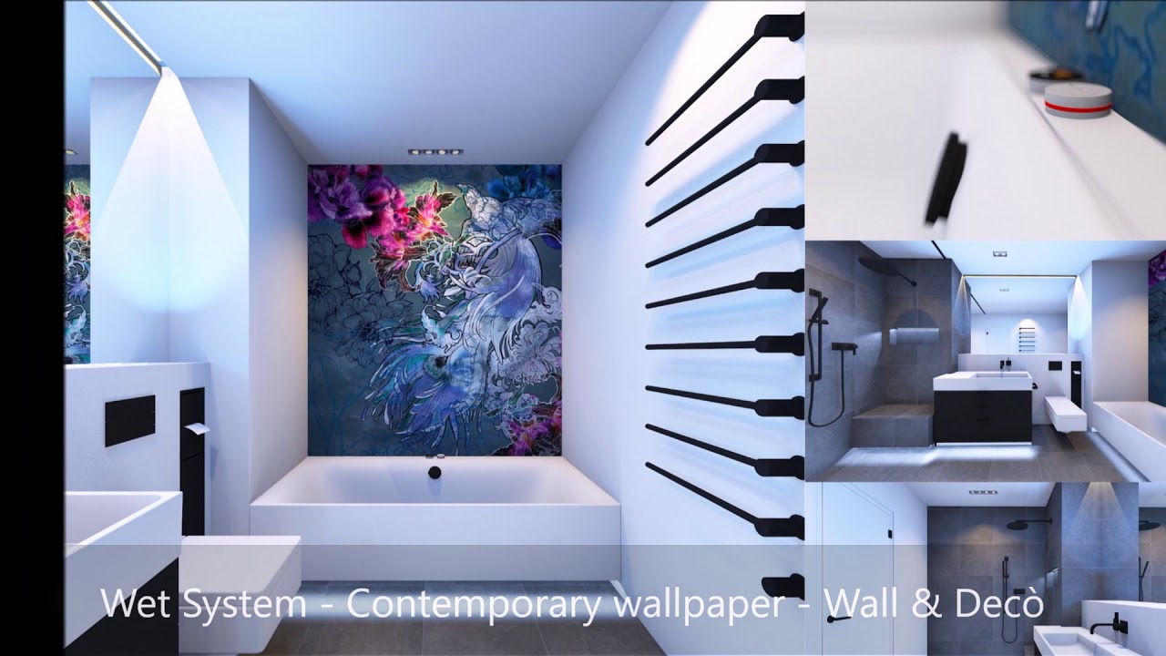 Magic Relaxing Bathroom With Wall U0026 Decò Wet System   Contemporary Wallpaper