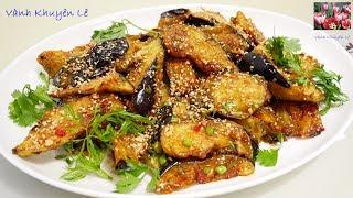 CÀ TÍM SỐT CHUA NGỌT và TRỨNG RANG THỊT BẰM - Món ngon nấu nhanh EGGPLANT easy recipe by Vanh Khuyen