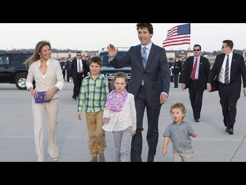 Justin Trudeau and family arrive in U.S. for official visit