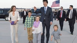 justin trudeau and family arrive in u s for official visit