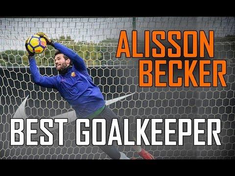 ALISSON Becker AS ROMA goalkeeper | Best Saves