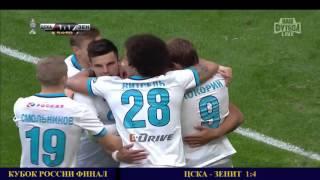 КУБОК РОССИИ ЦСКА - ЗЕНИТ 1:4 ОБЗОР МАТЧА ФИНАЛ 02.05.16