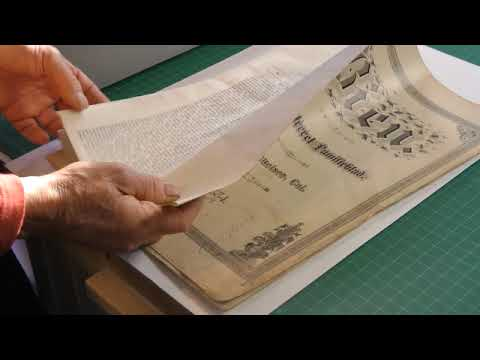 "Conservation and Preservation: ""Bien, et Illustretet Famalieblad"" Folio"