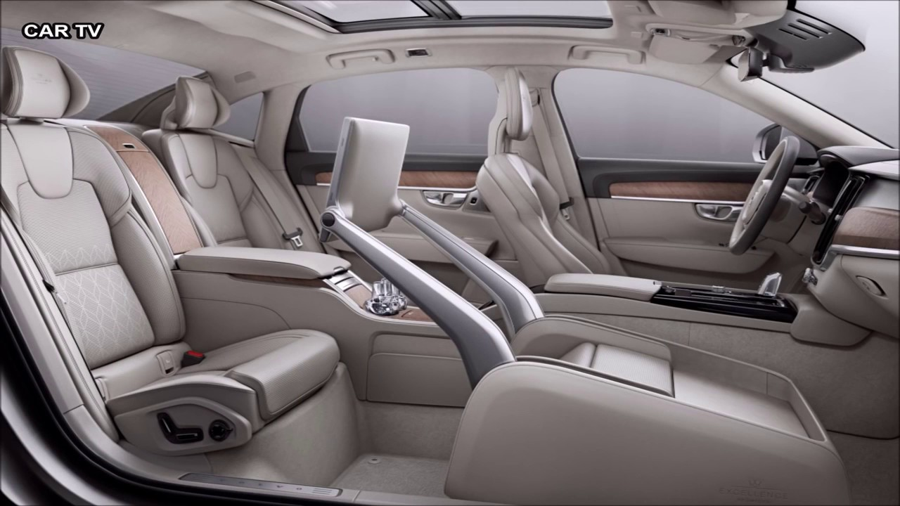 2017 Volvo S90 overview - Luxury sedan with 3 seat - YouTube