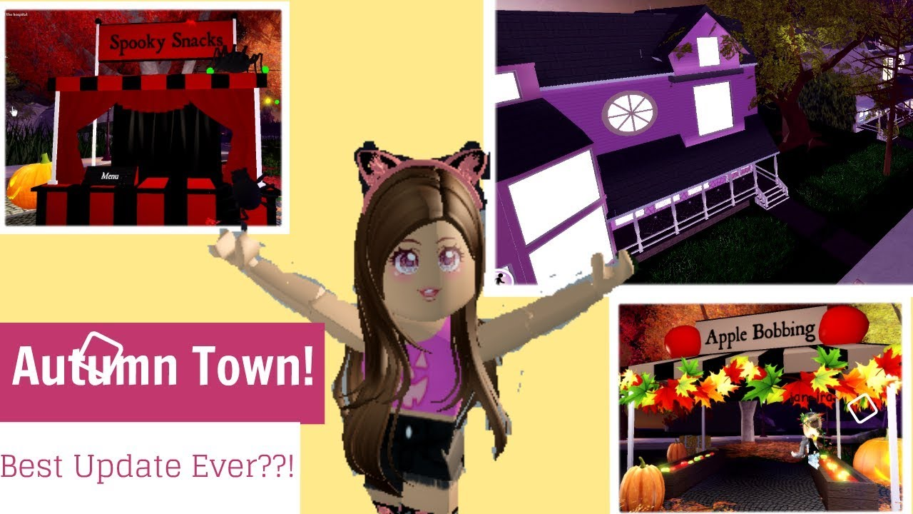Autumn Town Is Finally Here Reacting To Autumn Town Royale High Brand New Update Roblox - New Royale High Update Autumn Town Here