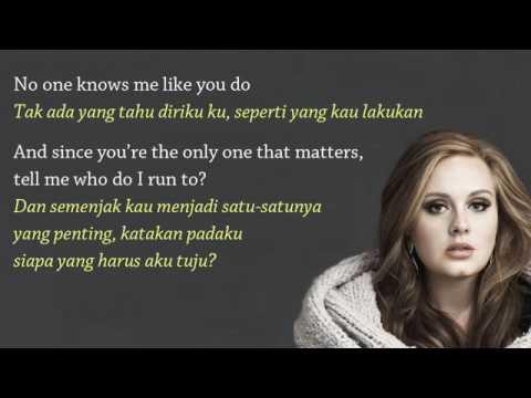 Adele.   All I Ask Video Lirik dan Terjemahan Bahasa Indonesia