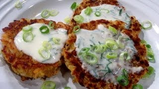 Salmon Cakes Recipe With Lemon Dill Sauce