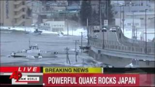 Raw Video: Earthquake Triggers Tsunami in Japan