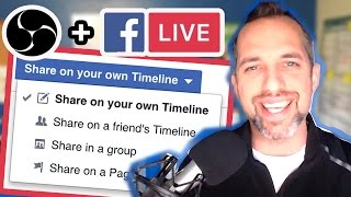 How to go Live on Facebook Profile with OBS (Live stream tutorial)