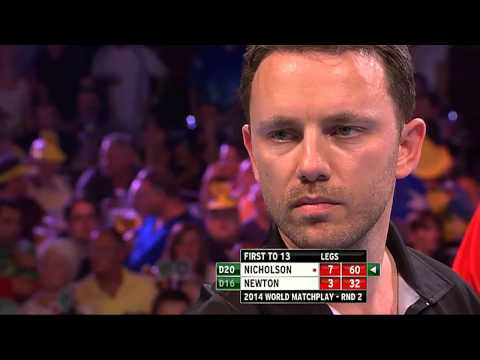 PDC World Matchplay 2014 - Second Round - Newton VS Nicholson