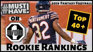 2019 Fantasy Football Rookie Rankings - Must Own or Avoid Rookies - Draft Day Strategy
