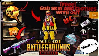 [FREE] Guns skin and clothes PUBG mobile without UC$