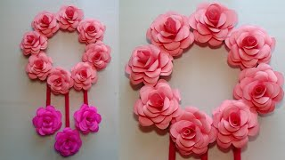 Paper Flower Wall hanging | Rose wall hanging. Home Decor Idea || SUNIL CREATION