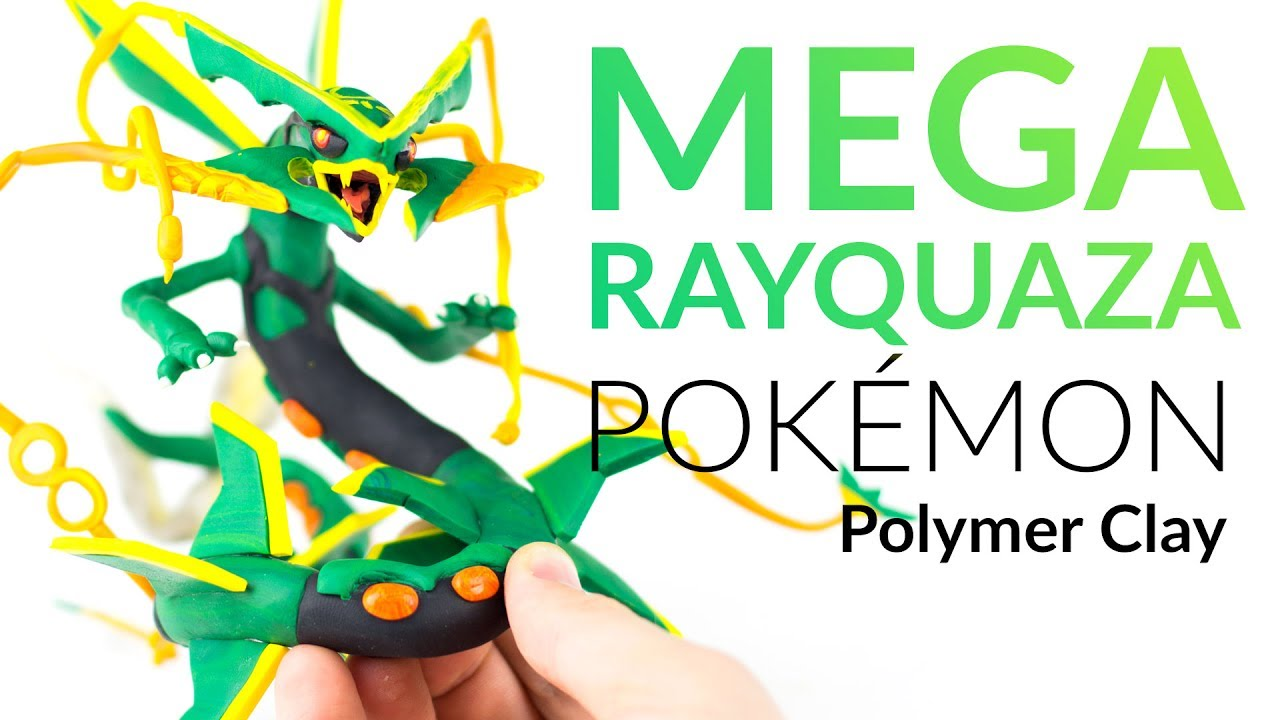 Mega Rayquaza (Pokemon) – Polymer Clay Tutorial