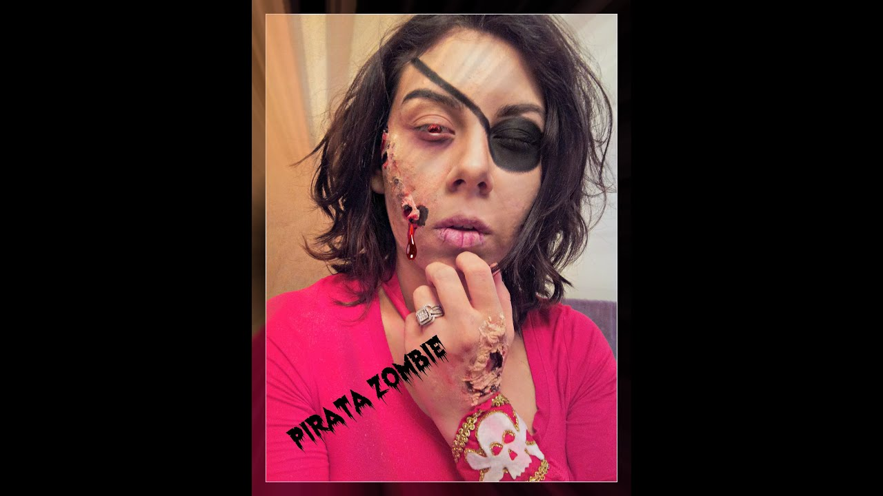 Worksheet. Maquillaje Para Halloween Pirata Zombie FACIL  YouTube