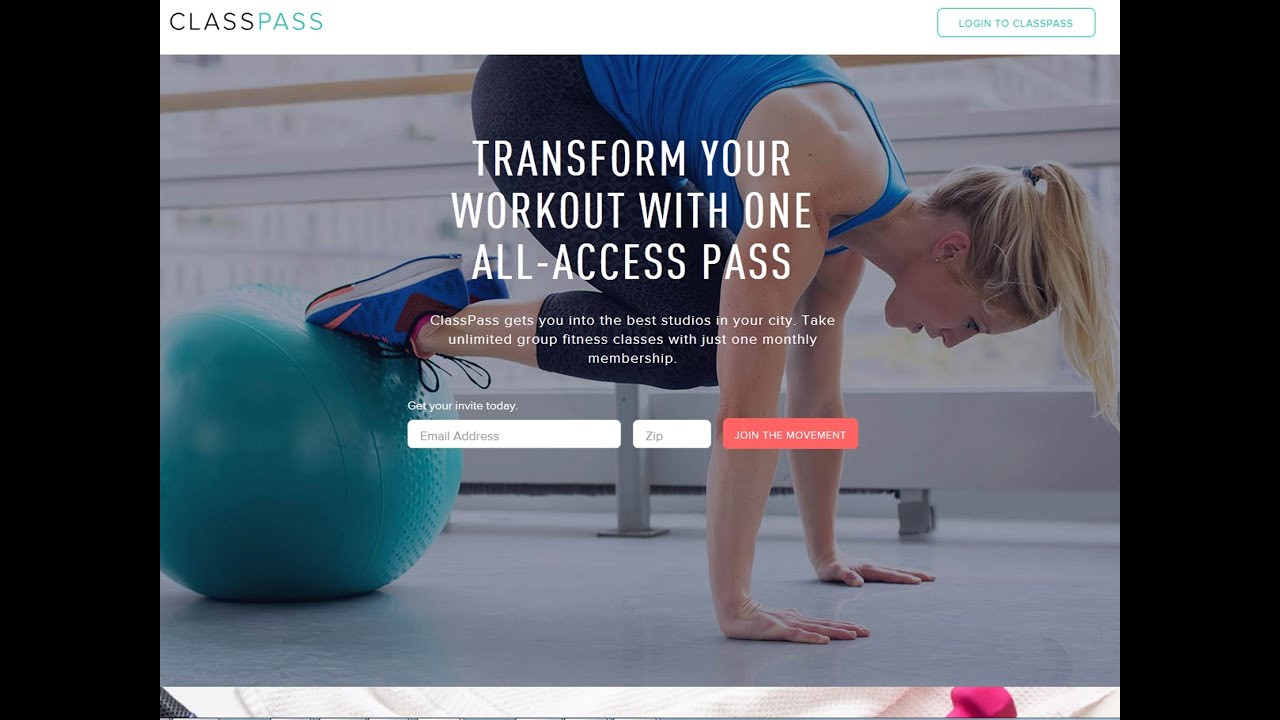 Classpass Fitness Classes Outlet Tablet Coupon 2020