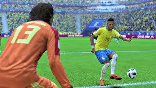 World Cup 2018 Brazil vs Mexico - Round of 16 Full Match Sim (FIFA 18)