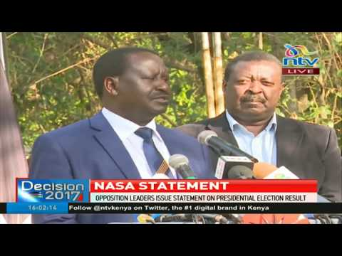 Raila Odinga speaks on the presidential election result and Nasa's way forward
