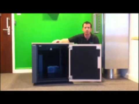 Demonstration of Quiet Server Cabinet   Netshelter CX Mini & a Radio