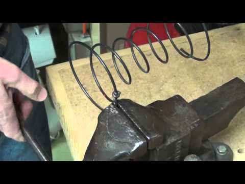 Shaping Coil Springs For Hard Wire Front Edge